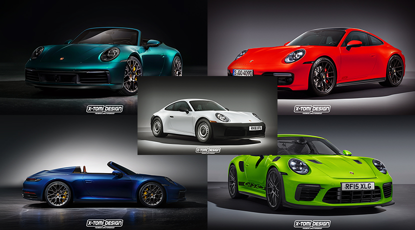 Recreations of the Porsche 911 992