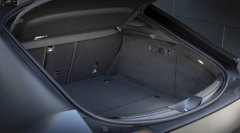 Trunk of the Mercedes- AMG GT 4 doors