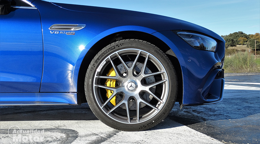 Wheel and brakes of the Mercedes-AMG GT 63 S 4 Doors Coupé