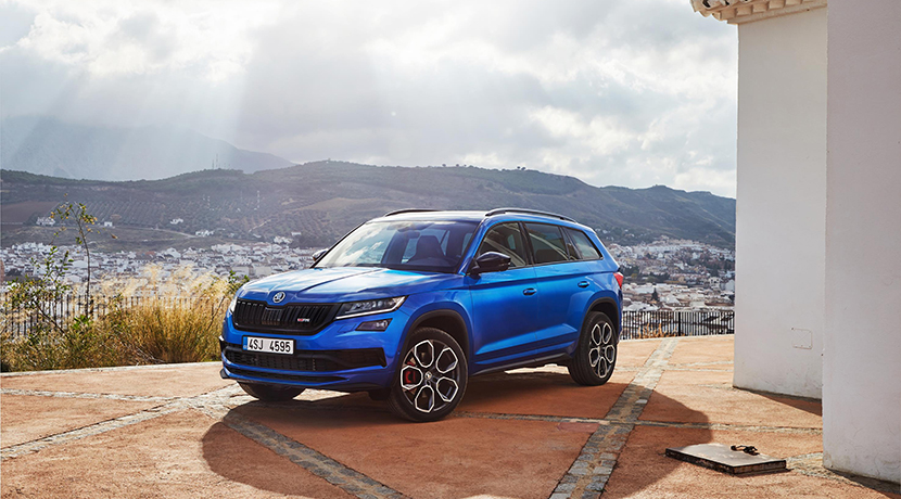 Front profile of the Skoda Kodiaq RS